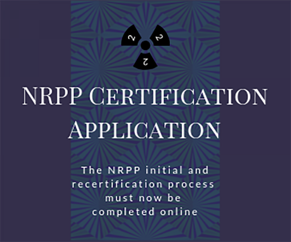 NRPP Certification Applications are now online only
